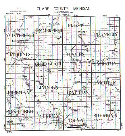 clare county michigan township plattings 1899
